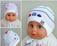 Детская шапка  осенняя плотная, р. 40-42 и 44-46.