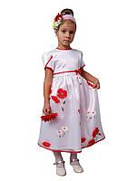 Платье нарядное детское с коротким рукавом М-799  рост 110-128