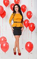 Оригинальное горчичное платье от производителя, фото 1
