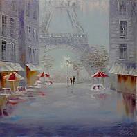 «С любовью о Париже» картина маслом