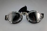 Мото очки Googles (хром) байк чоп vintage стильные