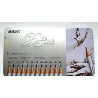 Набор графитных карандашей Raffine  7000-12TN 12шт.  195017