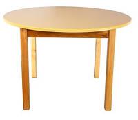 Стол деревянный с круглой столешницей цветной, ваниль 033 Финекс Плюс