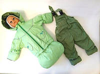 Костюм-тройка (конверт-костюм) демисезонный для мальчика салатовый