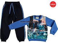 Стильный теплый костюм для мальчиков 5,6,7,8 лет