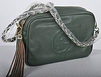 Женская сумка клатч Gucci (Гуччи)2 зеленая, черная