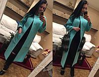 """Кашемировое пальто с модными карманами """"Мех"""""""