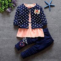 Детский нарядный костюм для девочки тройка