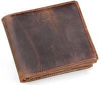 Мужской темно-коричневый кожанный портмоне  TIDING 8056R