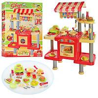 Кухня большая детская ресторан Фаст-фуд с микроволновой печью, кассовым аппаратом, посудомойкой
