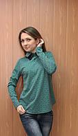 Молодежная блузка с кожаным воротником