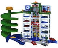 Детская мега-парковка паркинг + 4 машинки