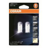 Автолампа LED OSRAM 2850WW-02B W5W(T10) 12V 1W W2,1x9,5d LEDriving Warm White 4000К тюнинг
