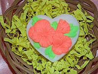"""Мыло """"Сердце с цветами"""""""