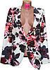 Пиджак женский с цветами