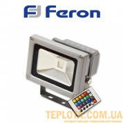 Светодиодный прожектор RGB с 16 цветовыми схемами и пультом ДУ LED Feron LL180 10W