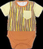 Детский боди-футболка, цветная, тонкий хлопок, ТМ Бемби, размер: 68
