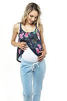 Брюки джоггеры для беременных — Голубые