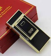 Электроимпульсовая USB зажигалка Tiger №4336 (черная-золото)