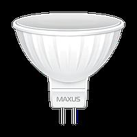 Светодиодная лампа MAXUS 3Вт MR16 Gu5.3 Нейтральный белый 4100К