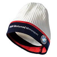 Вязаная шапка BMW Motorrad Knited Beanie Motorsport White