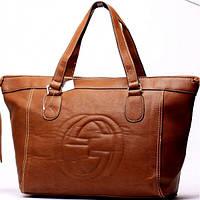 Женская сумка Gucci  коричневая