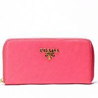 Женский кошелек Prada  розовый