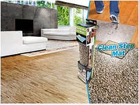 Впитывающий придверный коврик Clean Step Mat с нескользящим основанием
