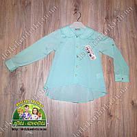 Блузка для девочки бирюзовая