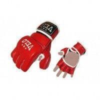 Перчатки для смешанных единоборств MMA Кожа VELO ULI-4017-R (р-р S-XL, красный)