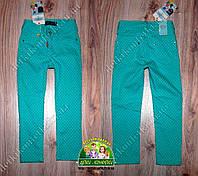 Бирюзовые брюки для девочки