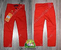 Красные брюки для девочки