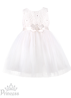 Бальное деткое платье на девочку с атласным бантом