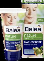 Органический ночной крем с оливковым маслом для любой кожи лица Balea nature Nachtcreme 50 мл.