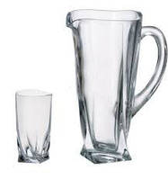 Bohemia Quadro Набор/вода (стак.350мл-6шт,кувш.700мл)-7пр