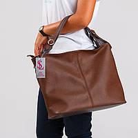 Сумка женская №1356r1 коричневый мягкий мешок