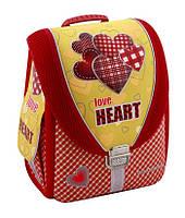 """Ранец школьный каркасный ортопедический """"Love Heart"""" Cool For School 85602"""