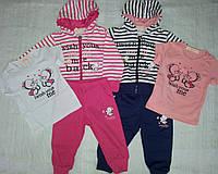 Спортивный костюм тройка в полоску для девочки