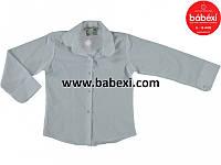Белая блузка-рубашка для девочек 6,7,8,9 лет