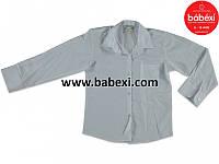 Белая рубашка для мальчиков 8,9 лет