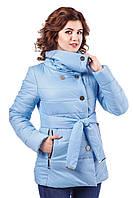 Куртка женская демисезонная с высоким воротником ЛайкиСтар р. 44-54