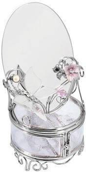 Великоллепная шкатулка с зеркалом Charme De Femme 320-MB-A серебристый