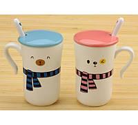 Набор чашек Мишки с шарфиками 2 вида