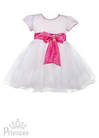 Праздничное белое детское платье для девочек