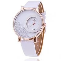Часы наручные женские с белым ремешком код 160