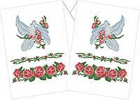 Заготовка для вышивки бисером. Свадебный рушник