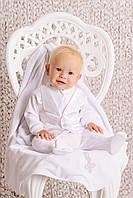 Красивый крестильный комплект для мальчика (без крыжмы)