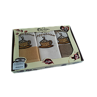 Набор кухонных полотенец Lotus Coffe 105