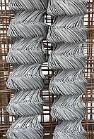 Сетка-рабица ЭКОНОМ оцинкованная 55х55, 1,7мм, Н=1,5м, 10 метров