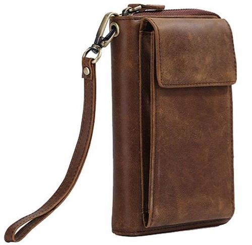 Компактное мужское портмоне  TIDING t4057 коричневый